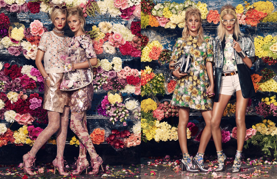 Patricia van der Vliet & Emily Baker by Sharif Hamza for W Magazine March 2012