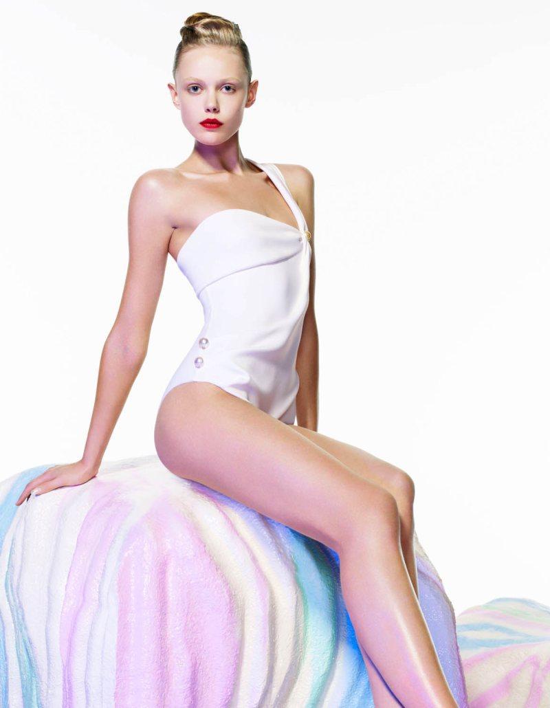 Frida Gustavsson by Daniel Sannwald for POP S/S 2012