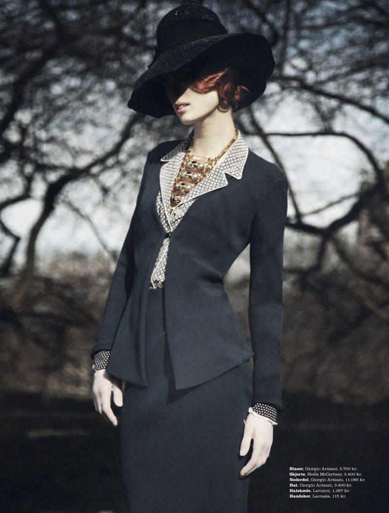 Ilva Heitmann by Oliver Stalmans for Elle Denmark March 2012