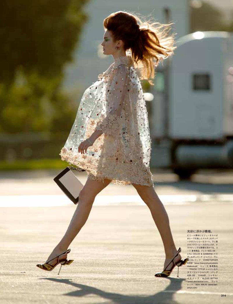 Jac Jagaciak by Hans Feurer for Vogue Japan April 2012