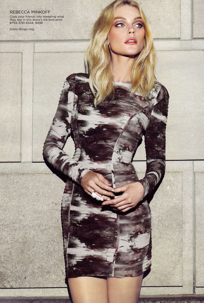 Jessica Stam by Max Abadian for Saks Fifth Avenue