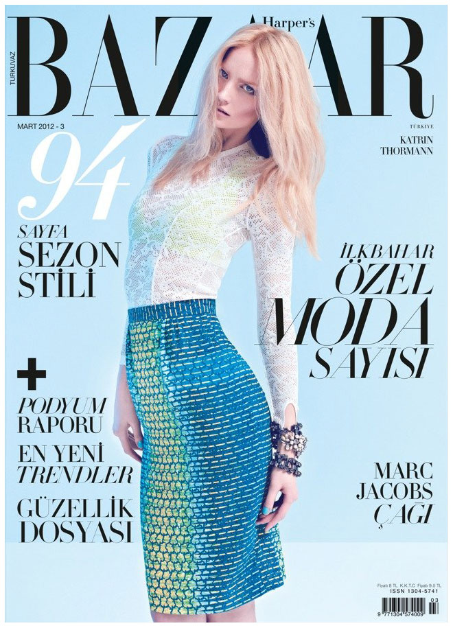 Katrin Thormann by Koray Birand for Harper's Bazaar Turkey March 2012