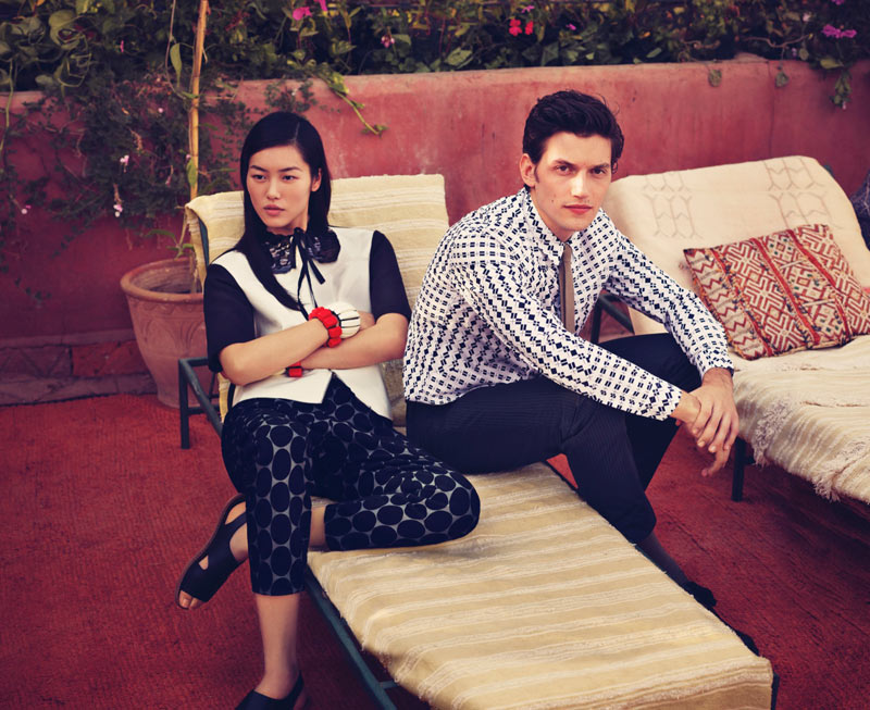 Liu Wen & Imogen Poots for Marni x H&M Spring 2012 Campaign by Markus Jans