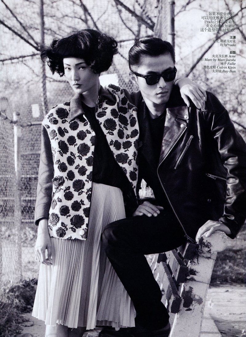 Wang Xiao, Lily Zhi and Zhao Lei by Lincoln Pilcher for Vogue China March 2012