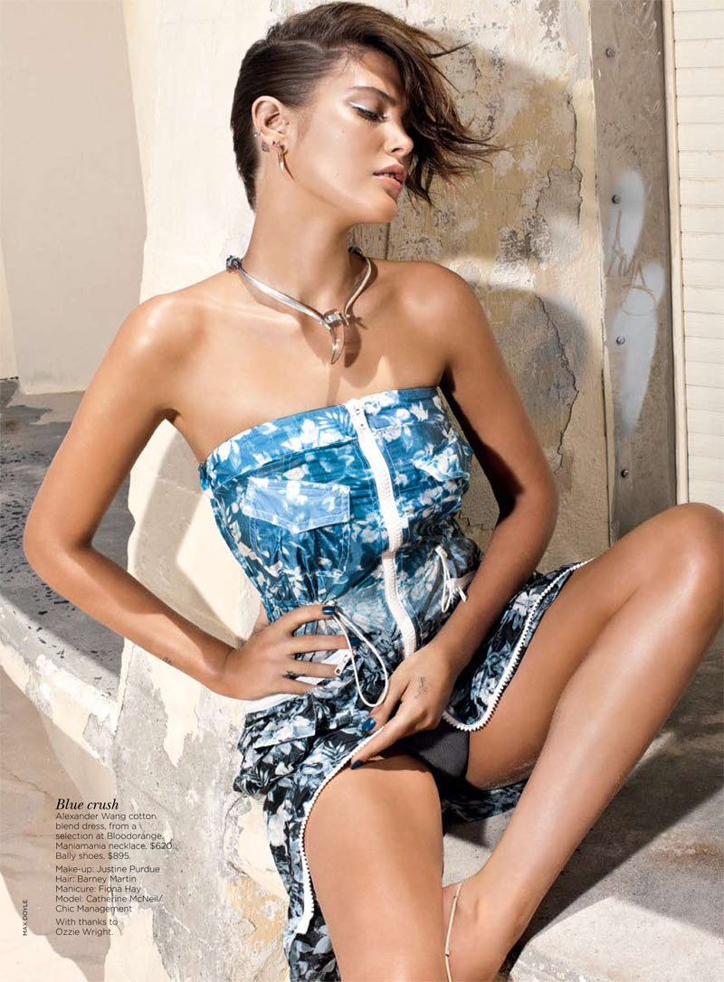 Catherine McNeil by Max Doyle for Vogue Australia April 2012