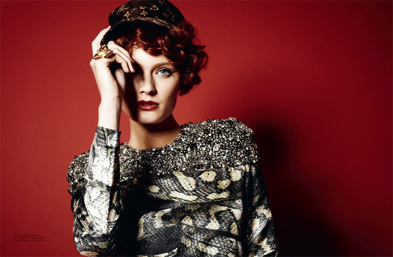 Constance Jablonski by Natalia Alaverdian for Harper's Bazaar Russia March 2012