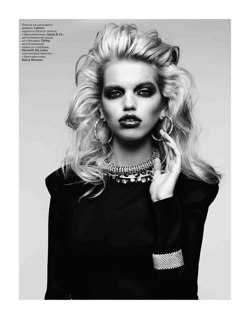 Daphne Groeneveld by Hedi Slimane for Vogue Russia April 2012