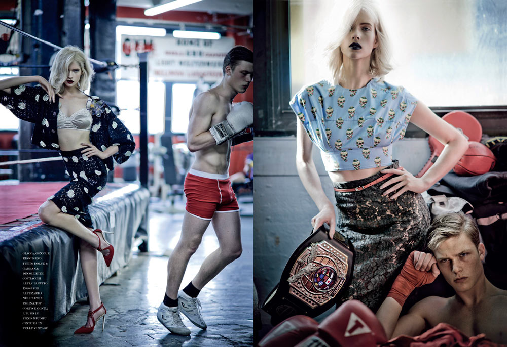 Alyona Subbotina by Jean-François Campos for Flair March 2012