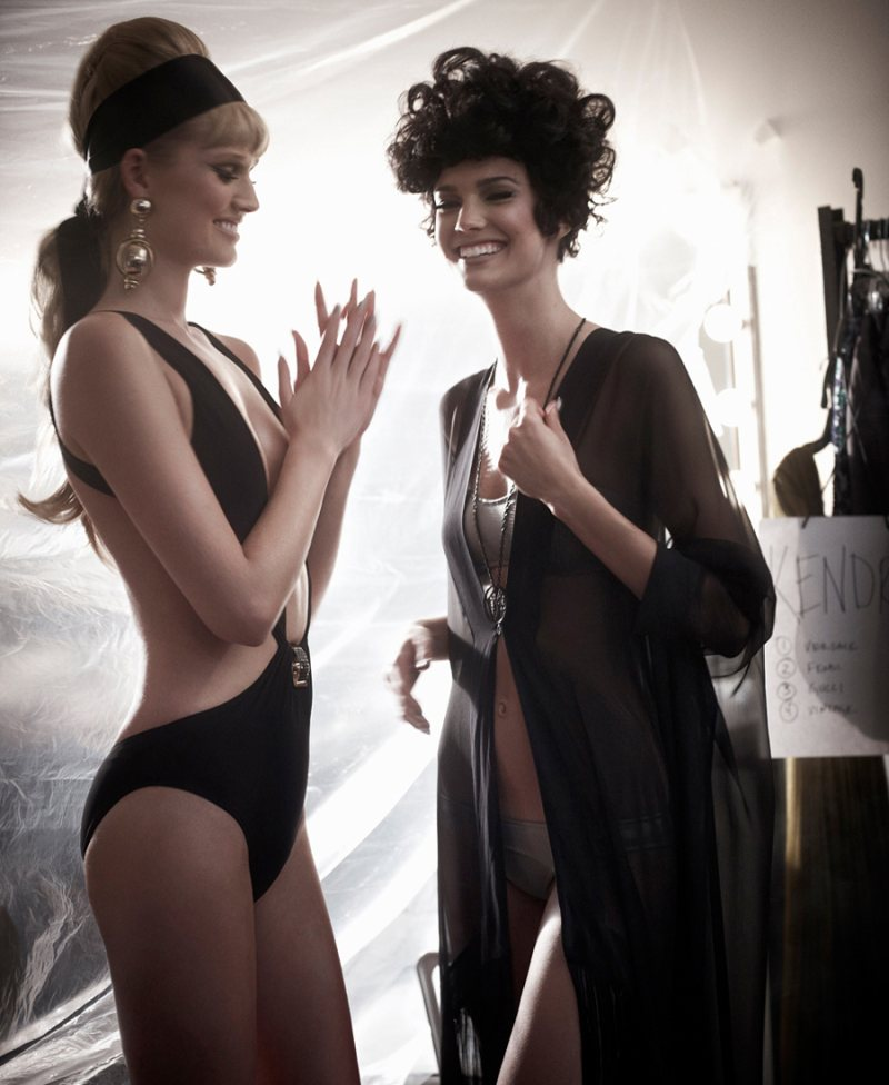 Toni Garrn & Kendra Spears by Mariano Vivanco for Muse Spring 2012