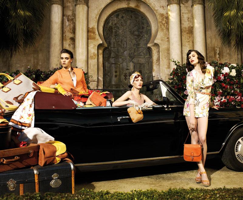 Elettra Wiedemann, Marique Schimmel & Corinna Ingenleuf for Uterque Spring 2012 Campaign by David Dunan