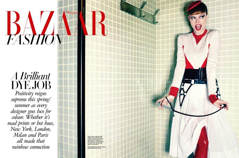 Coco Rocha by Simon Upton for Harper's Bazaar Singapore April 2012
