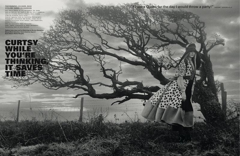 Daphne Groeneveld by Richard Bush for i-D Spring 2012