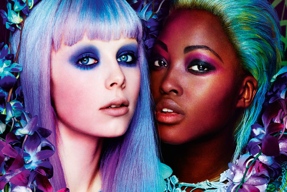 Edie Campbell & Nyasha Matonhodze by Mario Testino for Allure March 2012