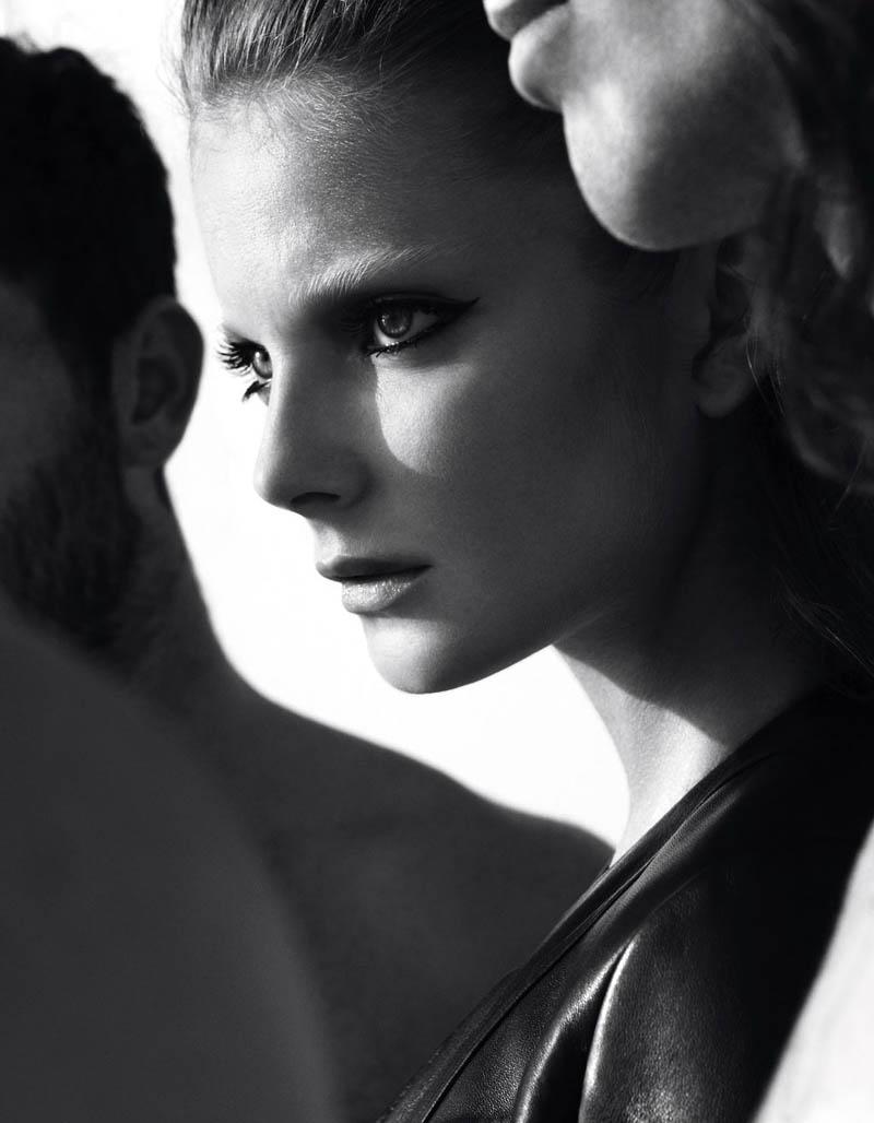 Eniko Mihalik by Camilla Akrans for Vogue Germany April 2012