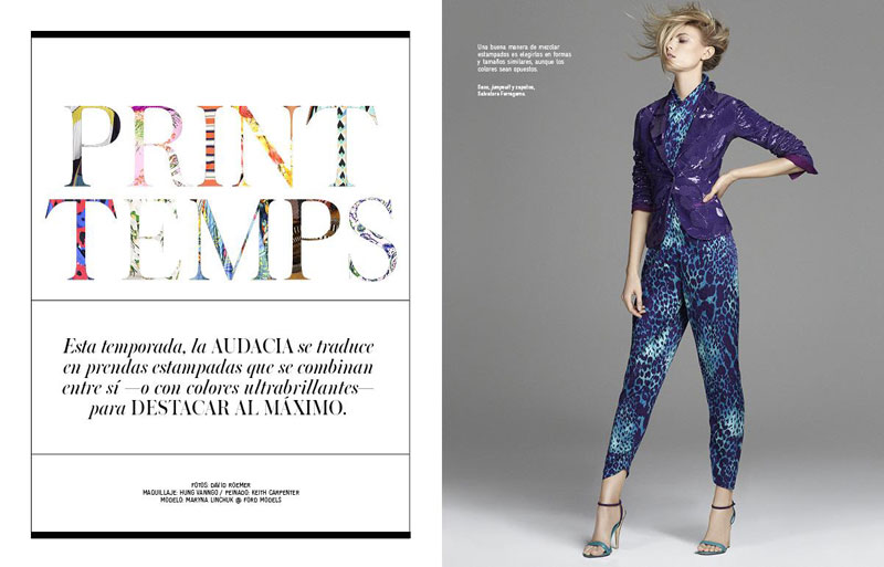 Maryna Linchuk by David Roemer for El Libro Amarillo S/S 2012