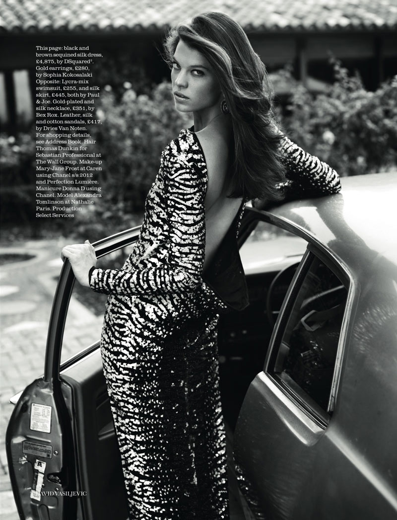 Alexandra Tomlinson by David Vasiljevic for Elle UK April 2012