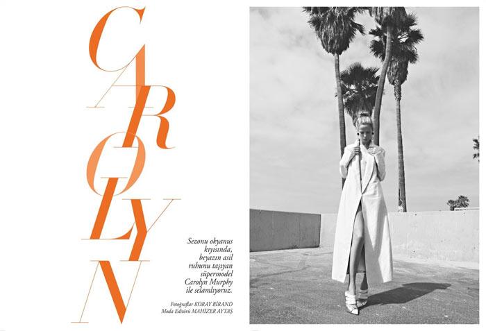 Carolyn Murphy by Koray Birand for Harper's Bazaar Turkey April 2012
