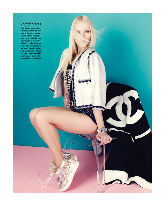 Ginta Lapina by Nagi Sakai in Chanel for Vogue Mexico April 2012