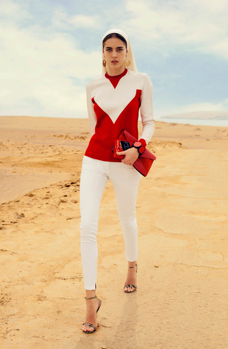 Nadja Bender by Alexander Neumann for L'Officiel Paris April 2012