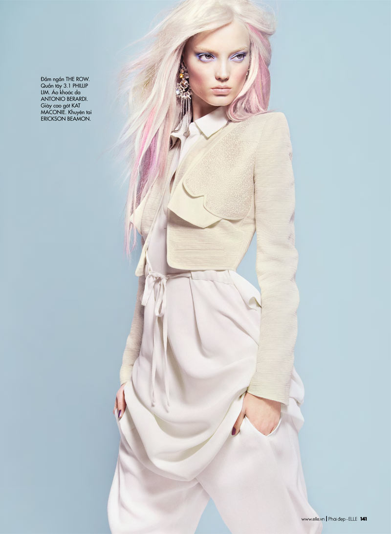 Two Toned Colored Hair: Naty Chabanenko By Kevin Sinclair For Elle Vietnam April