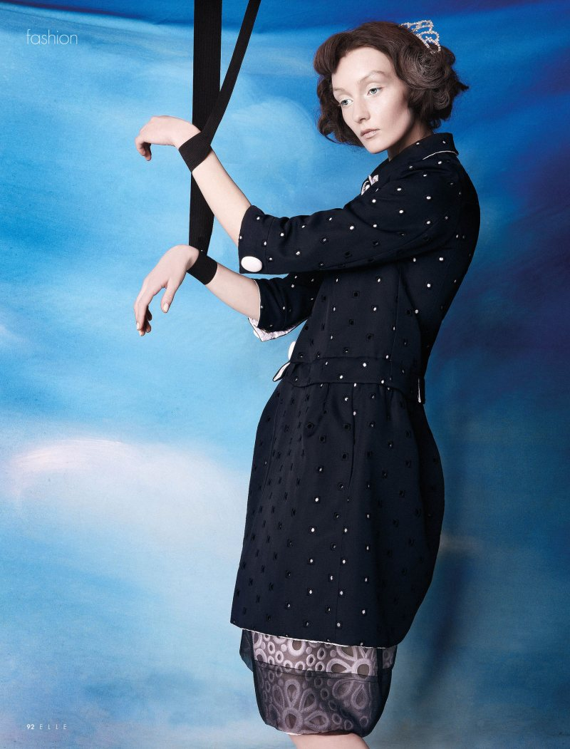 Alexa Yudina by Giovanni Squatriti in Louis Vuitton for Elle Dubai April 2012