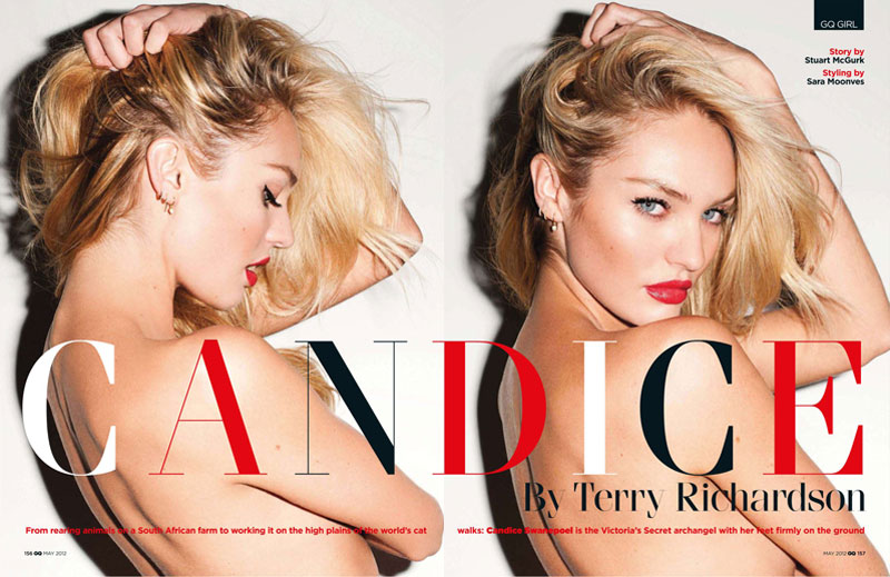 Candice Swanepoel by Terry Richardson for GQ UK May 2012
