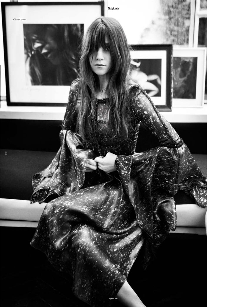 Charlotte Gainsbourg by Will Davidson for Oyster #98