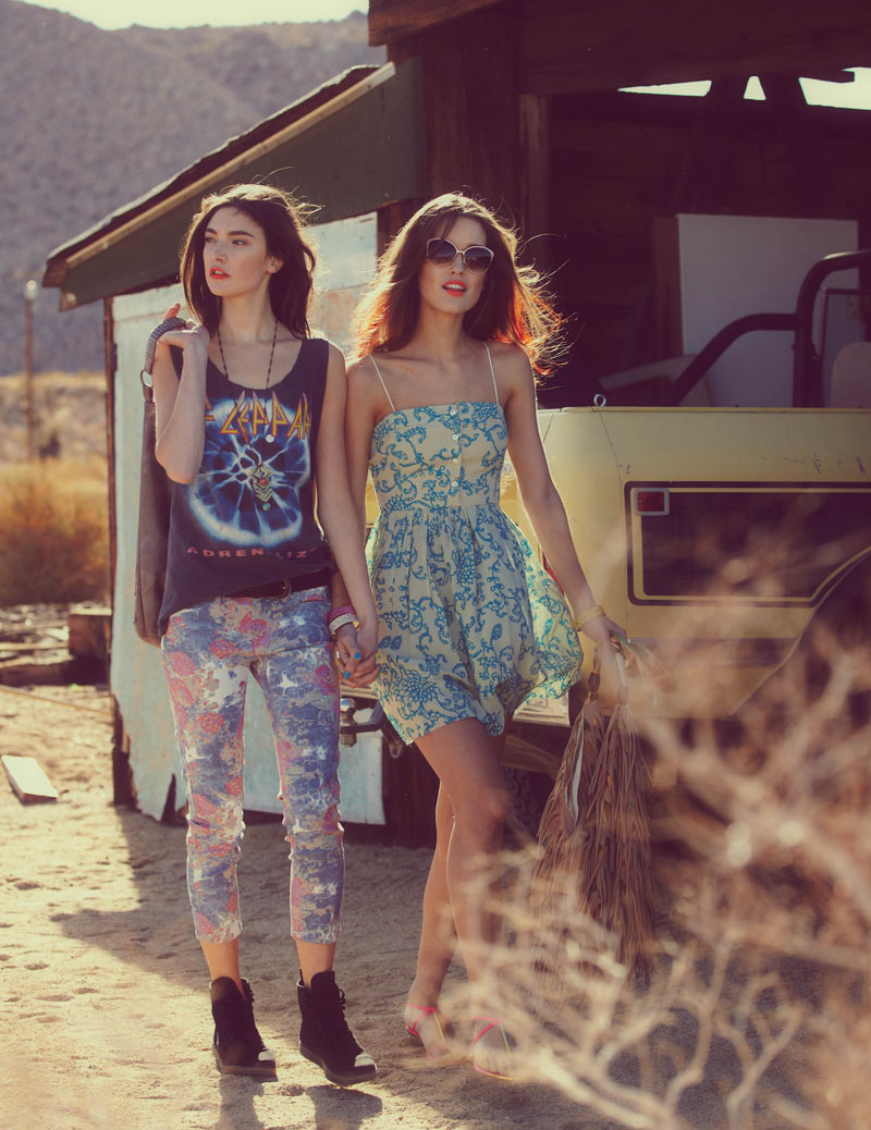 Jacquelyn Jablonski, Hailey Clauson, Luisa Bianchin & Kate Harrison for Free People April Catalogue