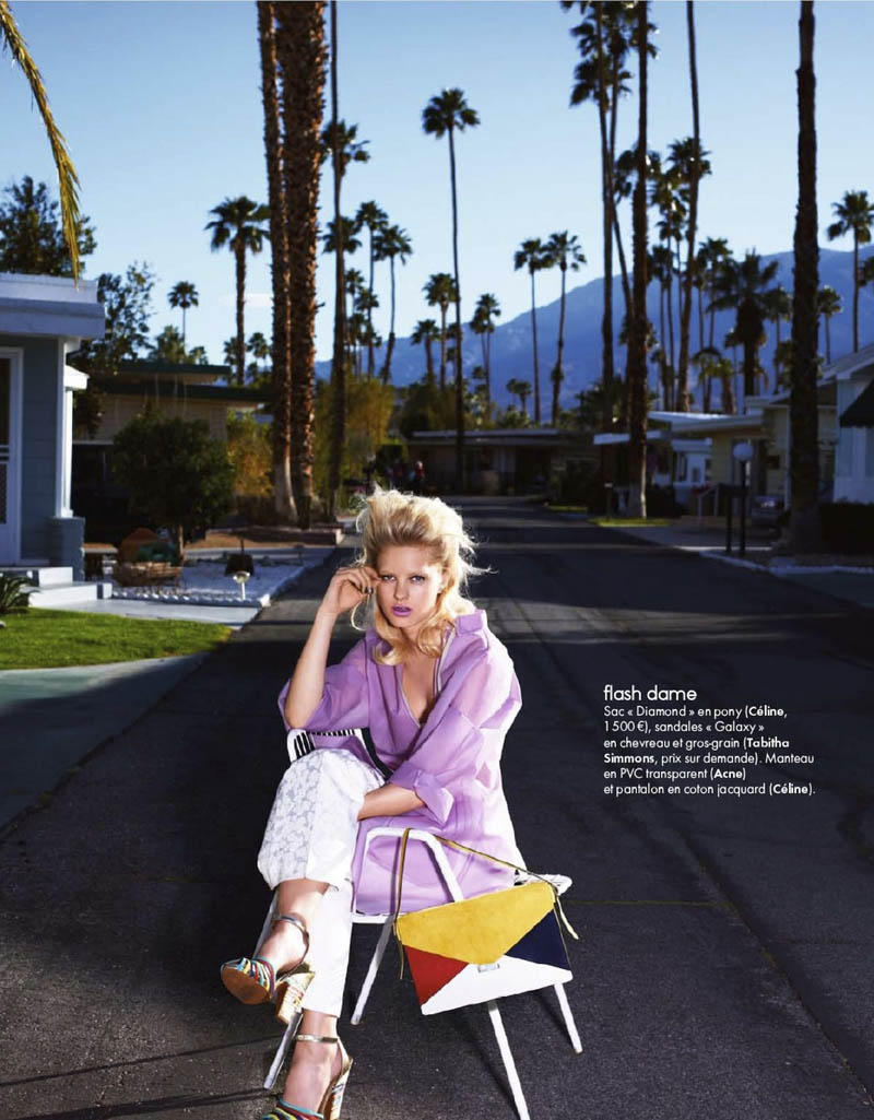 Hannah Holman by Simon Burstall for Elle France