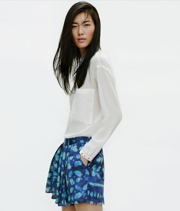 Liu Wen for Zara April 2012 Lookbook | Fashion Gone Rogue