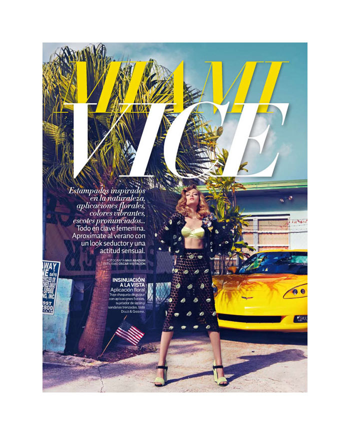 Olga Maliouk by Max Abadian for Woman Spain