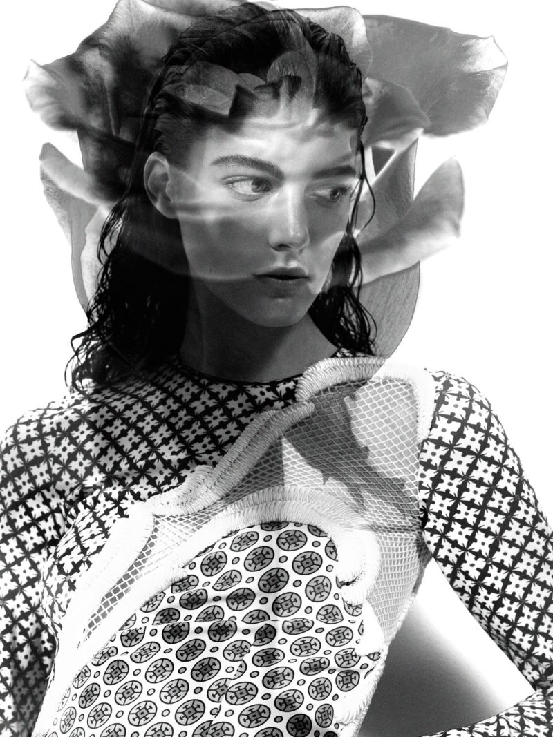 Katryn Kruger by Craig McDean in Stella McCartney for Interview April 2012