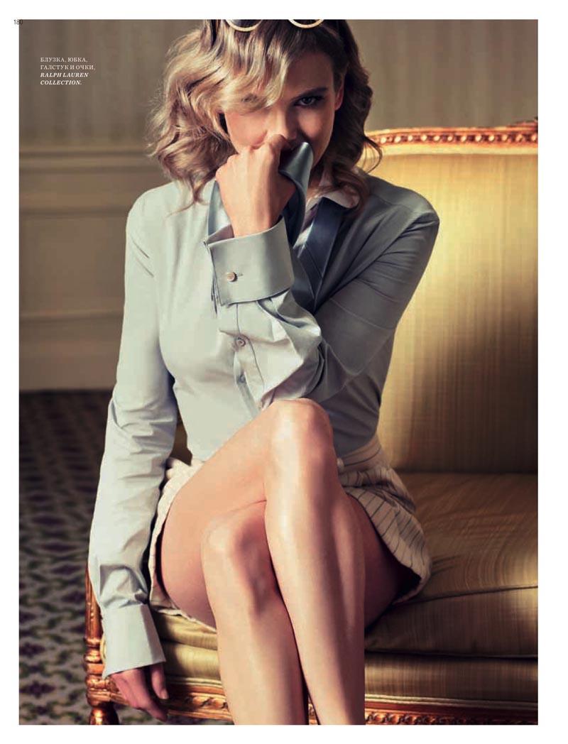 Renée Zellweger by Simon Upton in Ralph Lauren for Harper's Bazaar Russia May 2012