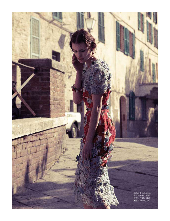 Bara Holotova by Wee Khim in Dolce & Gabbana for Nuyou Singapore April 2012