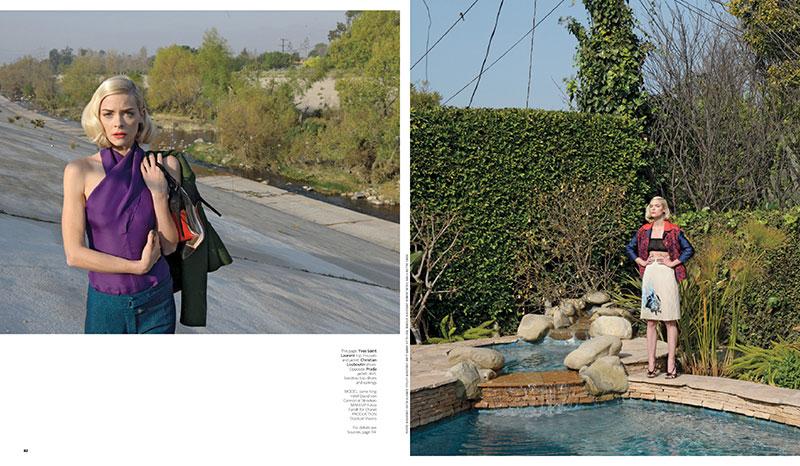 Jaime King by Stephen Shore for WSJ Magazine