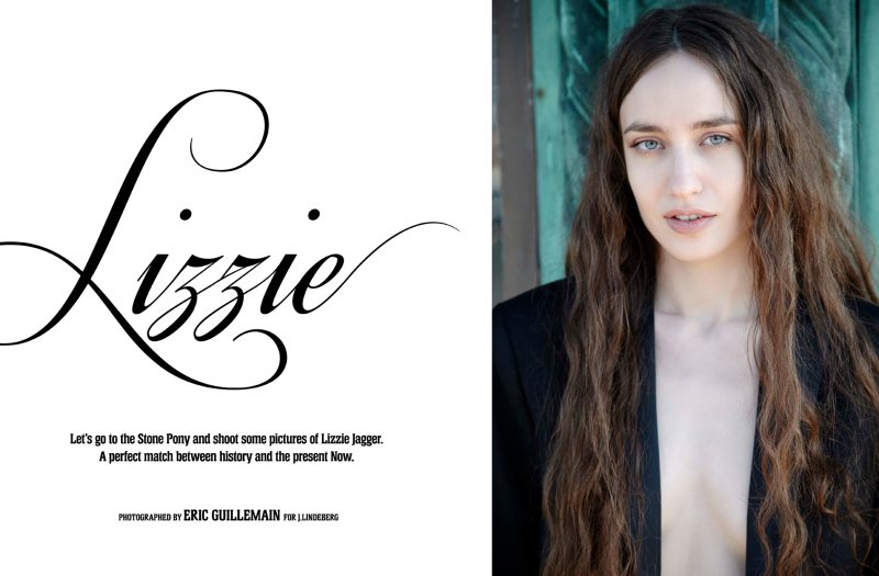 Lizzie Jagger for J. Lindeberg Spring 2012 Book by Eric Guillemain