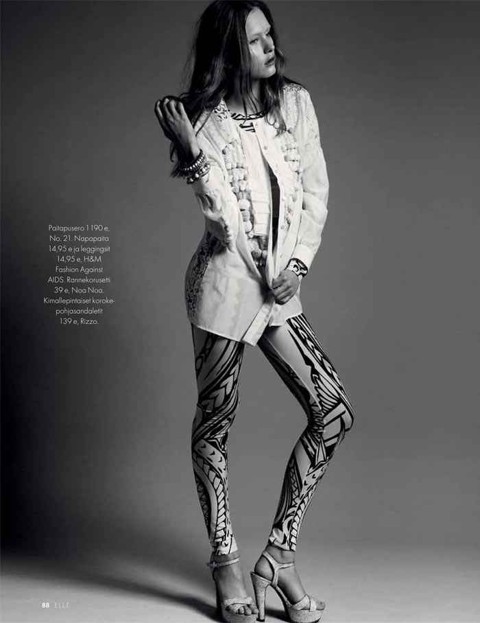 Johanna Wahlberg by Jesse Laitinen for Elle Finland May 2012