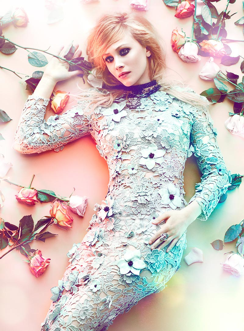 Sarah Gadon by Chris Nicholls for Flare May 2012