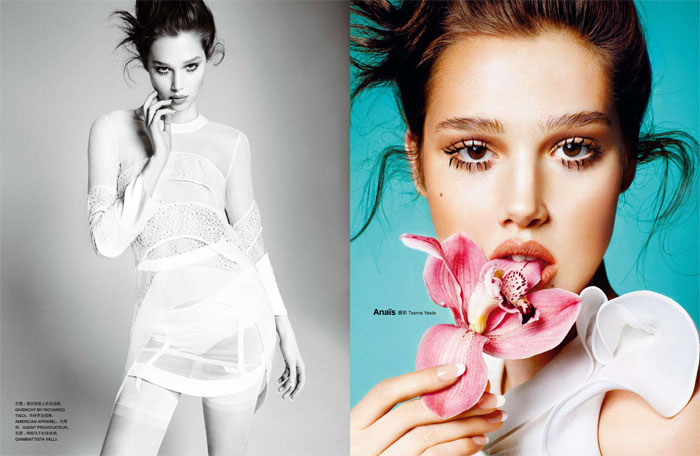 Anais Pouliot by Txema Yeste for Numéro China May 2012