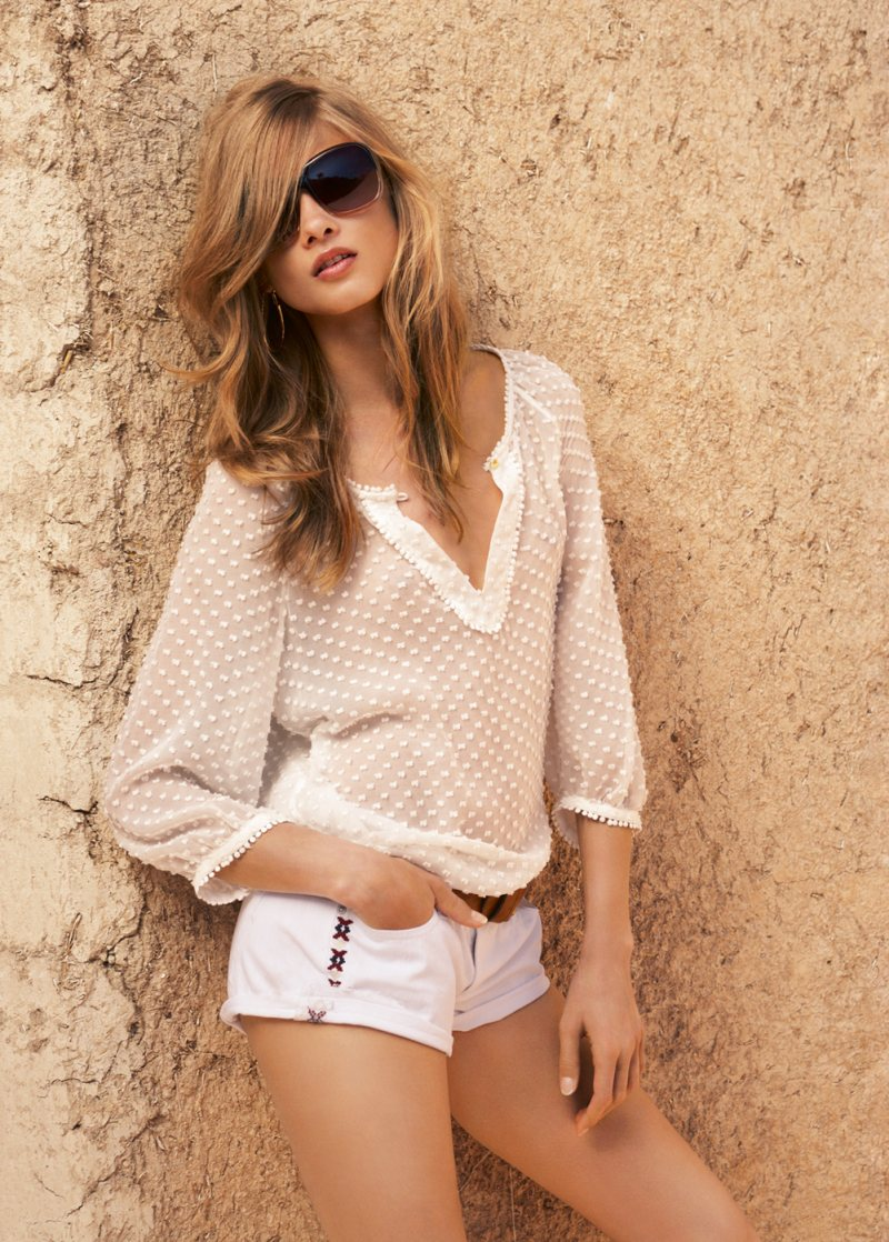 Anna Selezneva for Mango Summer 2012 Catalogue