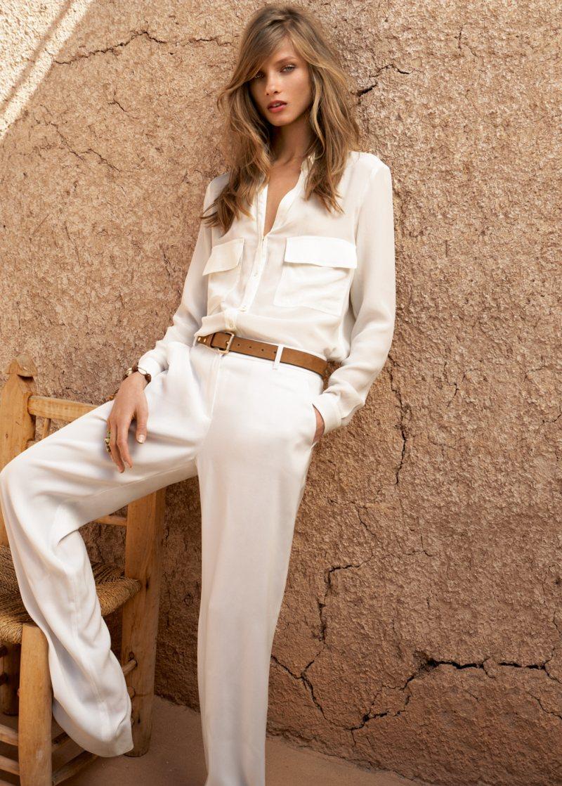 Anna Selezneva for Mango Summer 2012 Catalogue