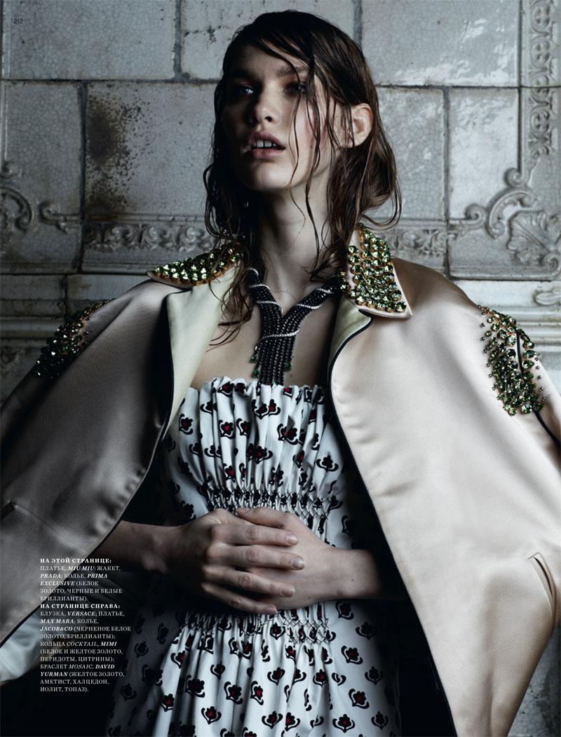 Irina Nikolaeva by Natalia Alaverdian for Harper's Bazaar Russia May 2012