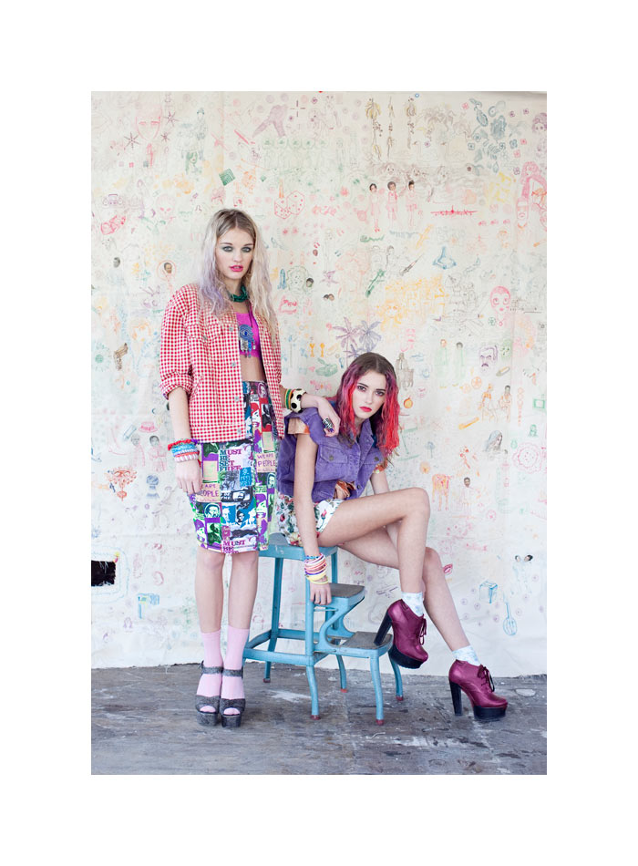 Madeline White & Kaitlin Pilcher by Xanthe Hutchinson for Material Girl April 2012