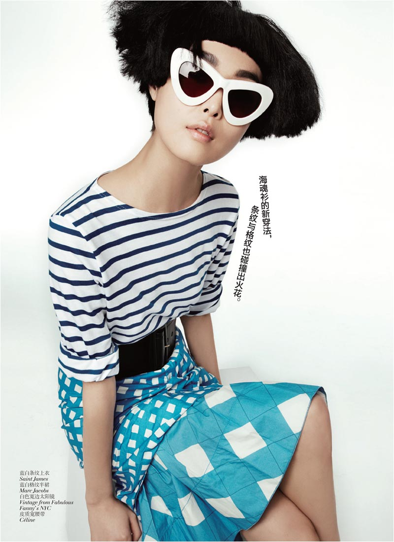 Ling Ling Kong & Sung Hee by Lincoln Pilcher for Vogue China May 2012