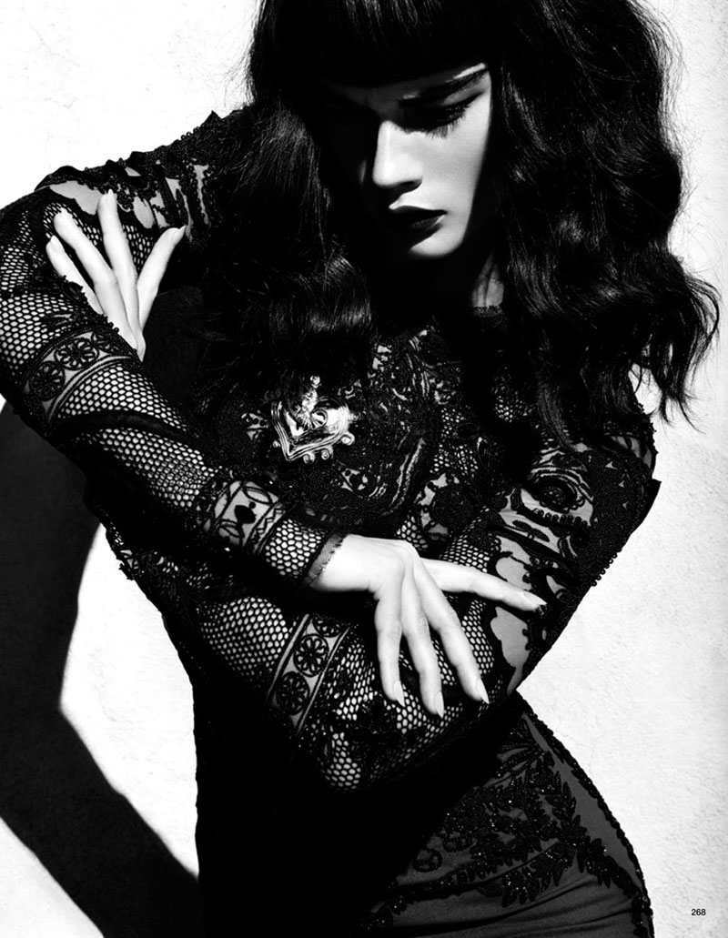 Crystal Renn by Camilla Akrans for Vogue Japan June 2012