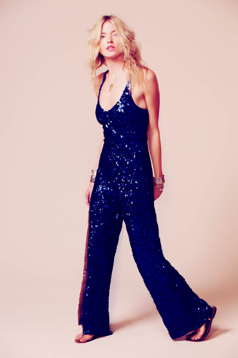 Martha Hunt Sparkles in Free People's Occasion Line of Dresses