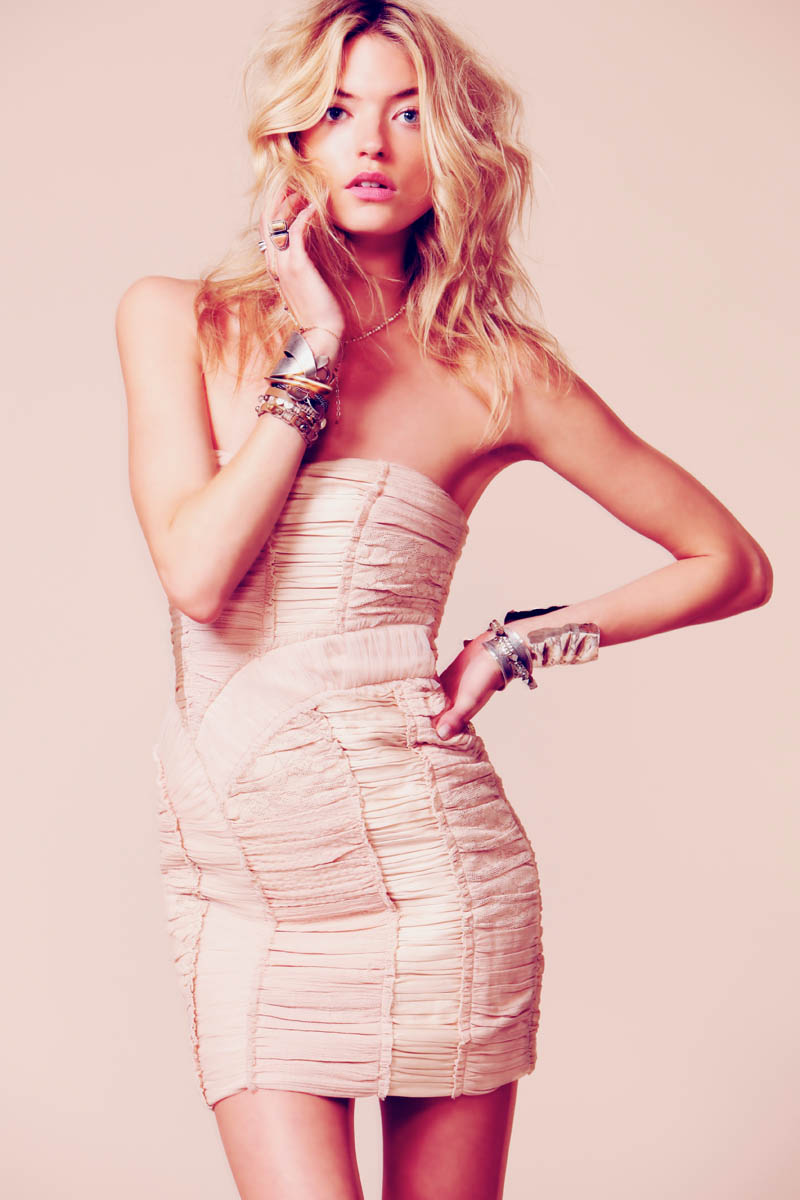 c9521a564d6 Martha Hunt Sparkles in Free People s Occasion Line of Dresses ...