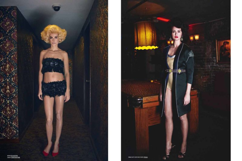 Yelena Yemchuk Captures Top Models as Retro Pin-ups for TAR