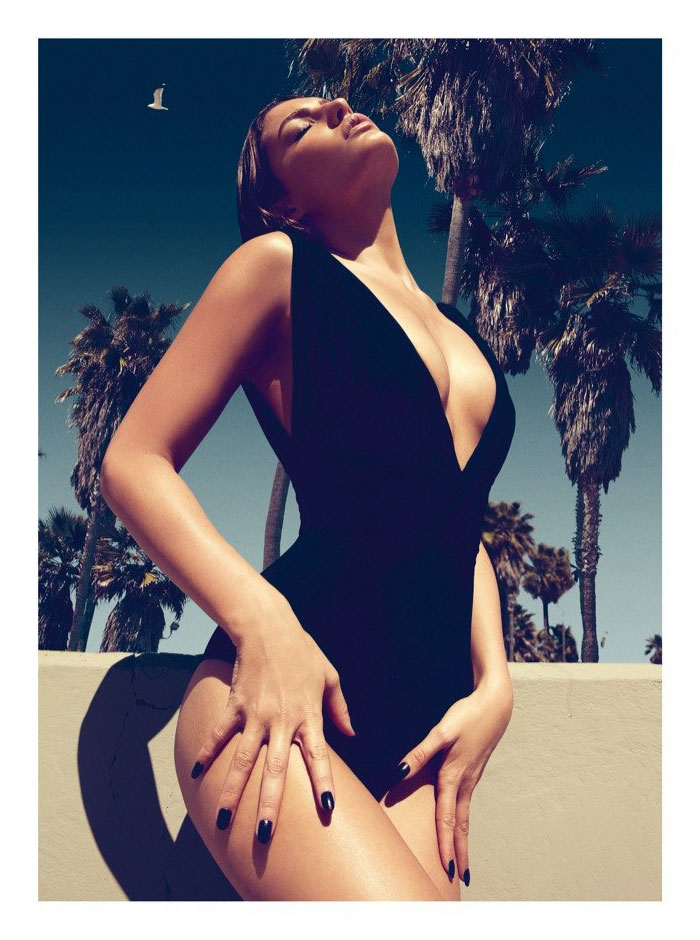 Alyssa Miller Plays Swimsuit Babe for Koray Birand in GQ Turkey's June Cover Shoot
