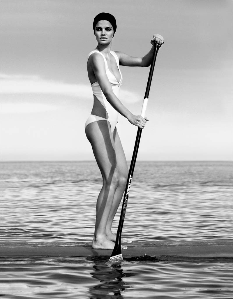 Barbara Fialho Plays Water Sports in L'Officiel Paris, Lensed by Alexander Neumann